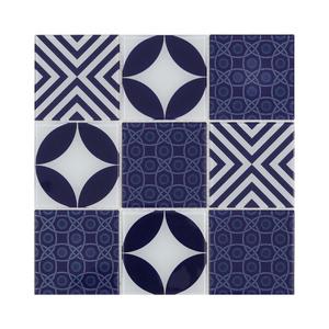 Pastilha Pacth Azul e Branco 31,3x31,3cm Artens