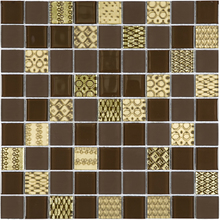 Pastilha Patchwork PW4007 29,2x29,2cm Glass Mosaic