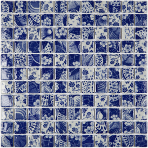 Pastilha PE2503 30x30cm Glass Mosaic