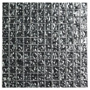 Pastilha Relevo Metalizada Prata 30X30cm Vetromani