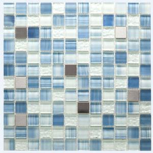 Pastilha Steel Blue Stone 29x29cm Crystalcor
