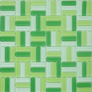 Pastilha Tijolinho Taranto Verde 31,25X31,25 cm Vetromani
