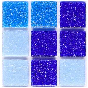 Pastilha Vidro Brilhante Textura Especial Azul Stampa 2x2 VC-9010 30,3X30,3 Jatoba