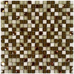 Pastilha Vidro e Pedra Colorido Diamond Moss 30,5X30,5cm Colormix