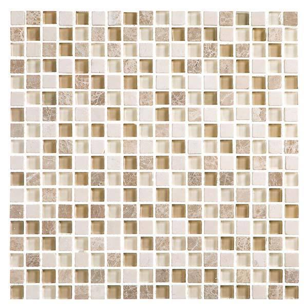 Pastilha minor mix sand bege 30 4x30 4cm crystalcor for Leroy merlin mosaico decorativo