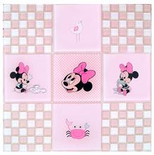 Pastilha Vidro Brilhante Rosa 003386-3 Disney-03 30X30 cm Colortil