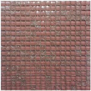 Pastilha Vidro Rosa Pathernon Rhode 30,5X30,5cm Colormix