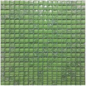 Pastilha Vidro Verde Claro Pathernon Calista 30,5X30,5cm Colormix