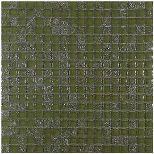 Pastilha Vidro Verde Musgo Pathernon Athos 30,5X30,5cm Colormix