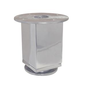 Pé de Móvel em Alumínio Polido Regulável 92x150mm Forjaria Alvorada