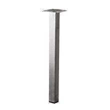 Pé para Mesa Aço Inox 300x25mm até 50,00kg Prata