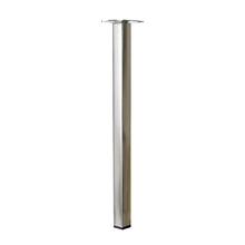 Pé para Mesa Aço Inox 400x25mm até 50,00kg Prata
