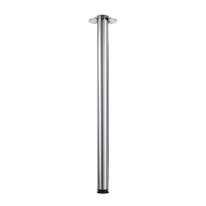 Pé para Mesa Aço Inox Ajustável 900 à 930mm até 100,00kg Prata