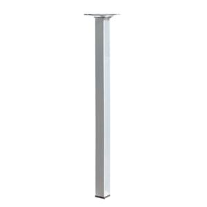 Pé para Mesa Alumínio 400x25mm até 50,00kg Prata
