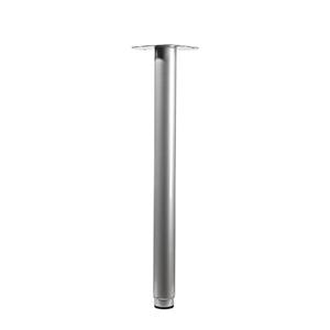 Pé para Mesa Alumínio Ajustável 900 à 1200mm até 75,00kg Cinza