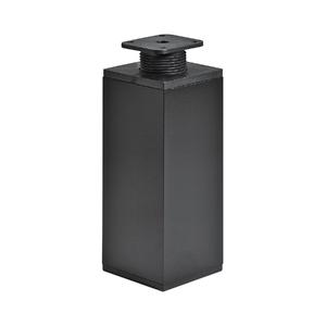 Pé para Móveis Aço Ajustável 150 à 180mm até 50,00kg Preto