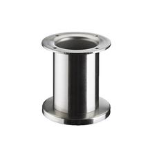 Pé para Móveis Aço Inox 100x60mm até 50,00kg Prata