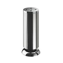 Pé para Móveis Aço Inox Ajustável 150 à 160mm até 50,00kg Prata