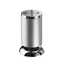 Pé para Móveis Alumínio Ajustável 100 à 110mm até 50,00kg Prata