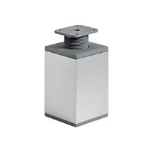 Pé para Móveis Alumínio Ajustável 100 à 130mm até 50,00kg Cinza