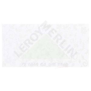 Peça Especial Brilhante Retificada Decorada Renda Branco 30x60cm Lanzi