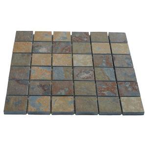 Pedra ard sia mosaico ferrugem 30x30cm micapel leroy merlin for Leroy merlin piastrelle mosaico