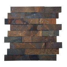 Pedra Ferro Mosaico Marrom 3x20 (30x30cm) Henry Mosaicos