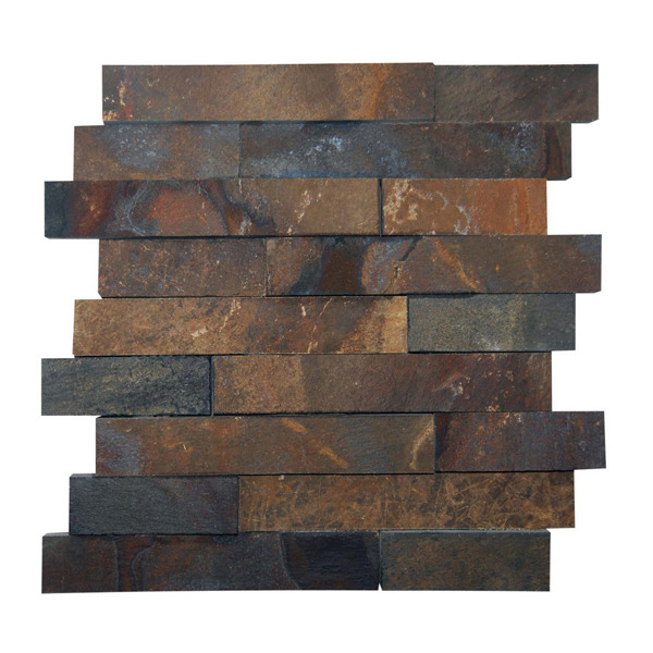 Pedra ferro mosaico marrom 30x30cm henry mosaicos leroy for Mosaico leroy merlin