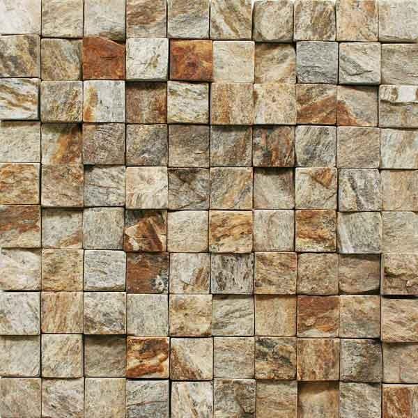 Pedra madeira mosaico amarelo 30x30cm henry mosaicos - Mosaico leroy merlin ...