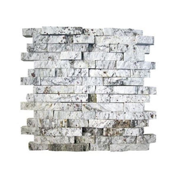 Pedra madeira mosaico branco 30x30cm henry mosaicos for Mosaico leroy merlin