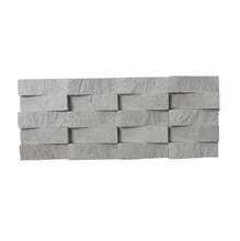 Pedra Natural Mosaico Telado Linha Exclusive Branco Paraíba (T) 2,5x7,5 Tela 12,5x30cm Revestir