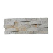 Pedra Natural Mosaico Telado Linha Exclusive Branco Sertão (0) 2,5x7,5 Tela 12,5x30cm Revestir