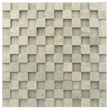 Pedra Natural Mosaico Telado Linha Quadrante Branco Paraíba (AB-0) 2,5x2,5 Tela 30x30cm Revestir