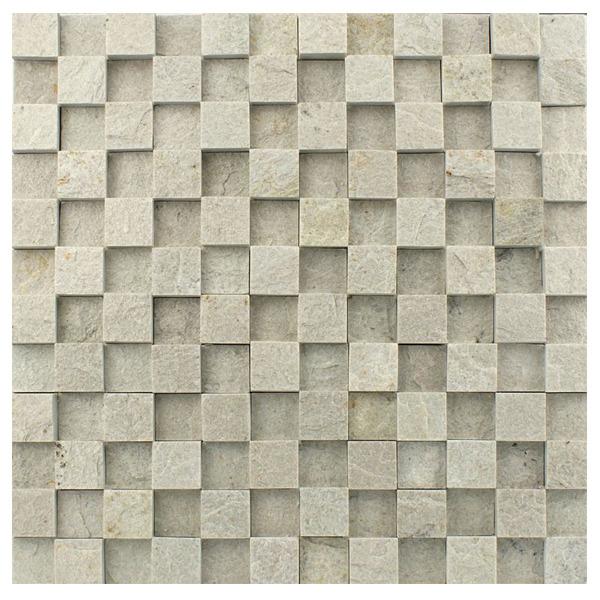 Pedra natural mosaico telado linha quadrante branco - Mosaico leroy merlin ...