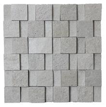 Pedra Natural Mosaico Telado Linha Quadrante Branco Paraíba (ABA-0) 2,5x5x5 Tela 30x30cm Revestir