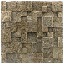 Pedra Natural Mosaico Telado Linha Quadrante Cinza Imperial (VT-0) 2,5x5x5 Tela 30x30cm Revestir