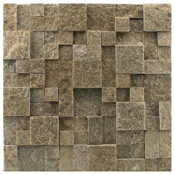 Pedra natural mosaico telado linha quadrante cinza for Mosaico leroy merlin