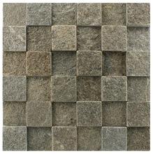Pedra Natural Mosaico Telado Linha Quadrante Cinza Imperial (ABA-0) 5x5 Tela 30x30cm Revestir