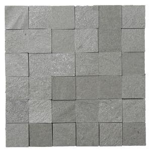 Pedra Natural Mosaico Telado Linha Quadrante Eco Verde Turmalina (0) 5x5 Tela 30x30cm Revestir
