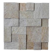 Pedra Natural Mosaico Telado Linha Quadrante Ouro Velho (VT-0) 10x5x5 Tela 30x30cm Revestir
