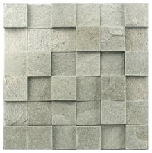 Pedra Natural Mosaico Telado Linha Quadrante Verde Turmalina (AB-0) 5x5 Tela 30x30cm Revestir