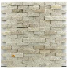 Pedra Natural Mosaico Telado Linha Aliance Branco Paraíba (0) 1,5x5 Tela 29x30cm Revestir