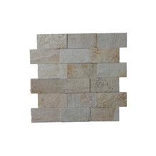 Pedra Natural Mosaico Telado Linha Aliance Eco Branco Sertão (0) 5x10 Tela 29x30cm Revestir