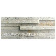 Pedra Natural Mosaico Telado Linha Exclusive Branco Paraíba 1.6mm Tela 11x30cm Revestir