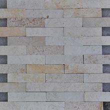 Pedra Natural Mosaico Telado Linha Aliance Branco Sertão Tela 29x30cm Revestir