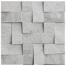 Pedra Natural Mosaico Telado Linha Quadrante Branco Paraíba (T) 5x10 Tela 30x30cm Revestir