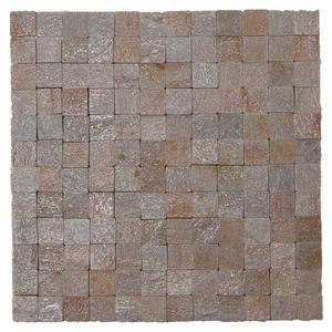 Pedra Natural Mosaico Telado Linha Quadrante Eco Ouro Velho (0) 5x10 Tela 30x30cm Revestir