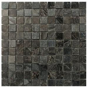 Pedra Natural Mosaico Telado Linha Quadrante Onix (1) 2,5x2,5 Tela 29,5x29,5cm Revestir