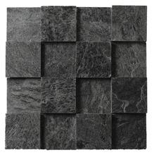 Pedra Natural Mosaico Telado Linha Quadrante Onix (ABA-0) 7,5x7,5 Tela 30x30cm Revestir