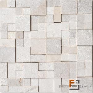 Pedra QTZ Mosaico Plantanum Claro 3 (30x30cm) Falcon Mosaics